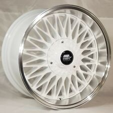 MST MT14 17x9 4x100/114.3 +20 White Rims Fits Prelude Accord Ae86 Stance Jdm