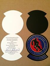 Jean Beliveau autographed Hockey Hall of Fame pass #2