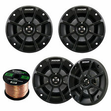 "2 Pair Kicker 40PS42 4"" Powersport Vehicles ATV/Motorcycle/Marine Speakers"