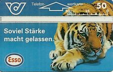 RARE / CARTE TELEPHONIQUE PREPAYEE - TIGRE : TIGER ( PUB ESSO ) / PHONECARD