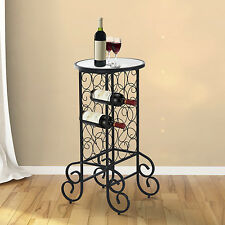 Wine Bottle Rack Holder Bar Table Storage Organizer Stand Home Holds 15 Bottles