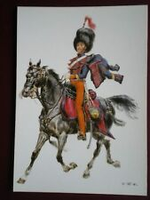 POSTCARD KINGDOM OF NAPLES 1851 OFFICER OF THE CAVALRY