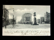 c.1905 Stores Grant Statue Junction Bedford & Rogers Aves. Brooklyn NY post card