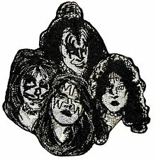 KISS Band Members in Make-Up Costume Personas Rock Music Iron On Applique Patch