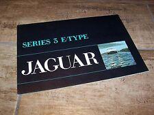 Prospectus / Brochure JAGUAR E Type Series 3 1971  //