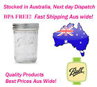 12 x 500ml Wide Mouth Pints Ball Mason Preserving Canning Wedding Jars BPA Free