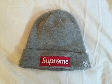 Supreme 2015 FW Box Logo New Era Gray Grey Winter Hat Beanie Accessory