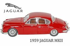 1:18 Diecast Jaguar Mark II (1959) by Bburago. Collectable Scale model