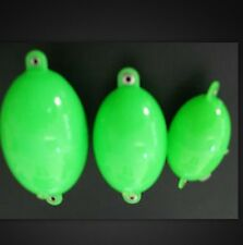 BULDO SET OF 3 OVAL BUBBLE FLOATS LIME GREEN