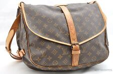 Authentic Louis Vuitton Monogram Saumur 35 Shoulder Bag M42254 LV 24913