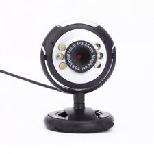 HD 12MP 6 LED USB Webcam Camera w/Mic &Night Vision for Desktop PC Laptop Skype