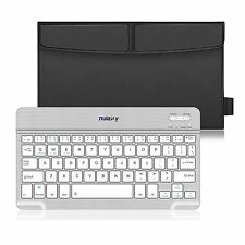 Nulaxy Business Rechargeable Ultra Slim Wireless Bluetooth Keyboard W Stand Case