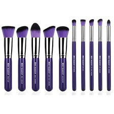 XMY 10PCS Makeup Brushes Kit Pro Kabuki Powder Blush Eye Shadow Fashion Purple