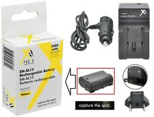 Super Capacity EN-EL15 Li-Ion Battery & 110/220V Charger for Nikon D7100 D7000