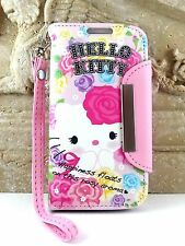 For Samsung Galaxy S4 - PINK ROSE HELLO KITTY LEATHER WALLET POUCH CASE COVER