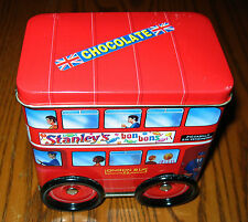 British Chocolate DOUBLE DECKER BUS with Wheels Tin from 2005. Made in Kent
