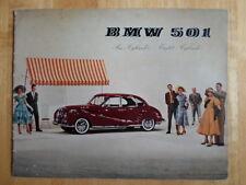 BMW 501 6 & 8 Cylinder original 1955 UK Market prestige brochure prospekt