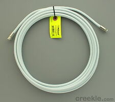 Wilson 950620 20-Foot RG-6 Low Loss Coaxial Cable F-Male Ends White 20' RG6 Coax