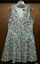 NWT Apt. 9 Mesh Texture Fit & Flare Sleeveless Pocket Dress size 16