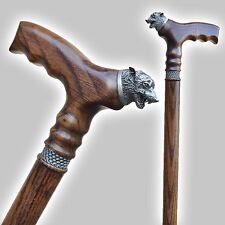 Handmade Wooden Walking Stick WOLF. Durable Fashionable Walking Cane, On Order.