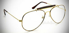 Vintage Aviator Eyeglasses Transition Photochromatic Lens Tortoise + FREE Pouch