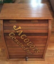 "Country Store Display French ""JACOUOTS GRENUINE FREN"" Braid Spool Cabinet"