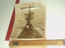 Rare Historical Original VTG WWII Life On Board A British Submarine London Photo