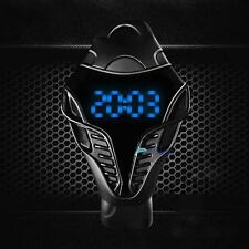 LED Digital Mens Watches Silicone Cobra Iron Triangle Dial Sport Wristwatch #BTL