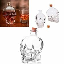 Glass 14oz Skull Head Decanter Container Flask Jar Vodka Whiskey Tequila Cup Bar