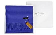 Classic Unisex Blue Plain Scarf - Mens Womens 100% Pure Wool Gift Box (PLA-W)