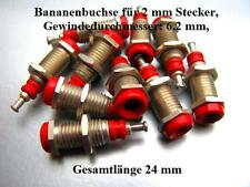 Steckverbinder Bananenbuchsen 2 mm Einbaubuchsen versilbert federnd Stecker Rund