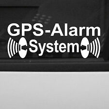 5 pezzi GPS sistema di allarme BIANCO specchiata Adesivo Tatuaggio Pellicola per parte interna