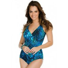 NEW MIRACLESUIT $146 Retail 18 48 Oceanus Blue TANK 1 PC SWIMSUIT Off the Scales