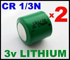 2 x 1/3N 3v LITHIUM BATTERIES DL 1/3 N CR1/3N CR11108 K58L NEW BARGAIN CR 1/3 N