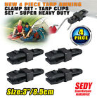 4 Pack Awning Clamp Set Tarp Clips Snap Hangers Free Ship Survival Emergency