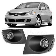 For 07-11 Versa Clear Bumper Fog Lights Lamps Kit W/Switch+Bulbs+Wiring Harness