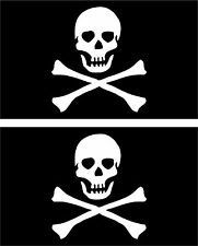 Set 2x sticker decal vinyl car bike laptop macbook bumper pirate flag corsair