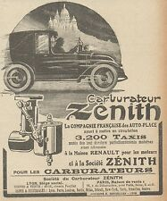 Z9525 Carburateur ZENITH -  Pubblicità d'epoca - 1922 Old advertising