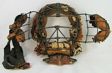 VINTAGE EARLY 1900'S LOOPS AND CLIPS UMPIRES MASK-MOVABLE  EAR GUARDS-RARE MASK
