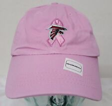 Atlanta Falcons NFL Pink Reebok Adjustable Slouch Hat Cancer Awareness Cap NWT