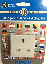 EU to UK Travel 2 Pin charger power plug UK 13A adaptor to fit socket in  PIFCO
