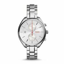 New Fossil CH2975 Land Racer Chronograph Silver Stainless Steel Women's Watch