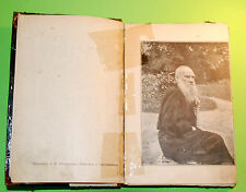 """Vintage Original Russian Imperial """"Leo Tolstoy's Life"""" book 1904's"""