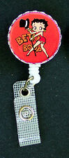 Red BETTY BOOP Retractable ID Badge Reel/Card Holder/Key chain ring/Security