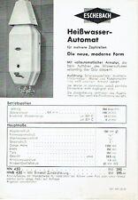 Eschebach Radeberg Prospekt Heißwasser-Automat Durchlauferhitzer 1937