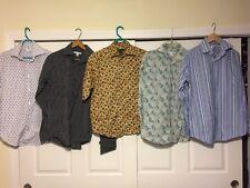 Lot 5 Banana Republic Men's Dress Button Shirts Small 14-14.5 100% Cotton Vguc