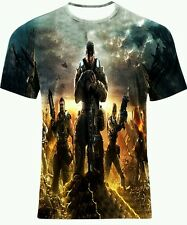 GEARS OF WAR CHAMP GAME ALLOVER FULL PRINT MULTI COLOUR ART T-SHIRT! All SIZES!