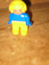 DUPLO LEGO PLANE PILOT MAN STANDS SIT PLAYFIGURE SET YELLOW HELMET SPARE REPLACE