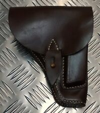 Genuine Eastern Block Military Brown Leather Gun / Pistol Holster - Un-Issued