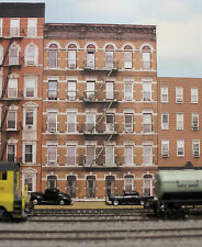#134 HO scale background building OLD APARTMENT BUILDING # 2 *FREE SHIPPING*